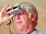 binocular,man,person,people,look,search,find,grey,senior,